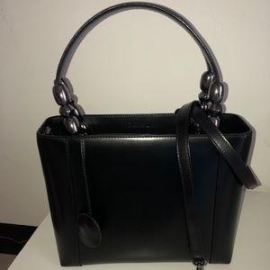 Christian Dior Lady Dior Bag in Black Leather